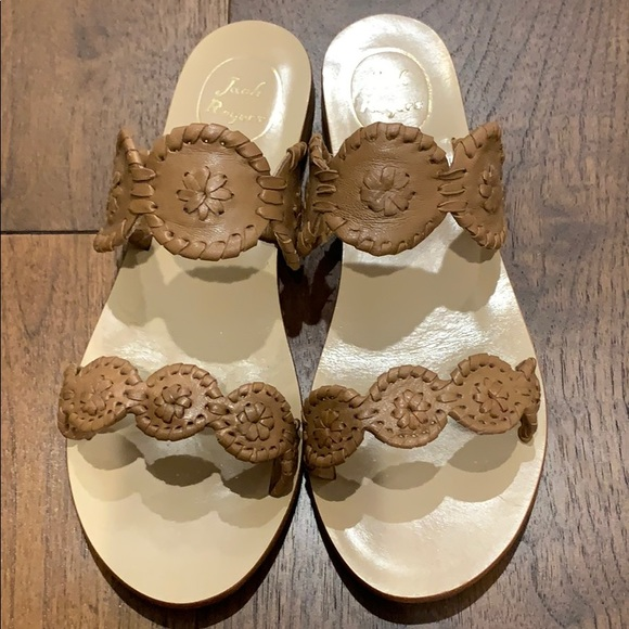 Jack Rogers Shoes - Jack Rogers - Lauren sandal - Cognac - Like new!